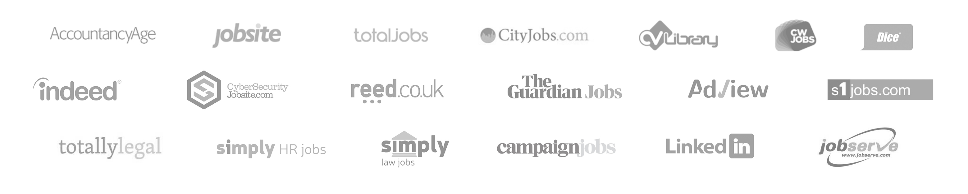 Logos of Job Boards integrated with WaveTrackR.